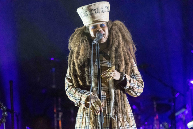 Erykah Badu Performing In Philadelphia At The Dell