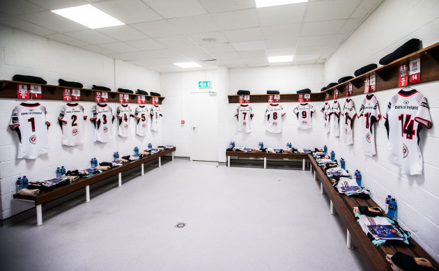 A general view of the Ulster changing room