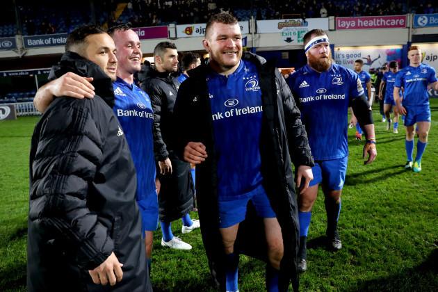 Jack McGrath celebrates after the game