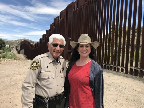 THE WALL USA MEXICO Sile and Sheriff Tony Estrada in Nogales - Copy