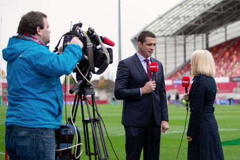 Alan Quinlan and Sinead Kissane