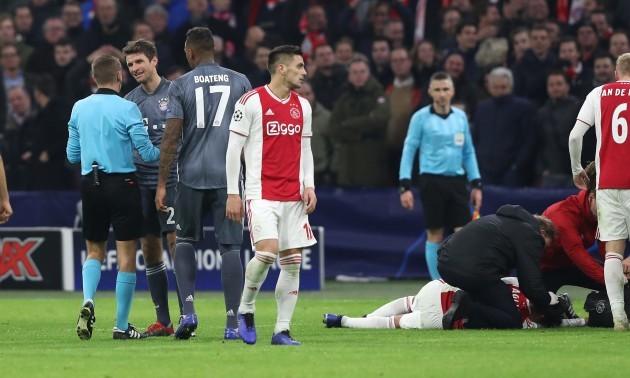firo: 12.12.2018 Football, Football: Uefa Champions League, CL Season 2018/2019 Ajax Amsterdam - FC Bayern Munich Munich