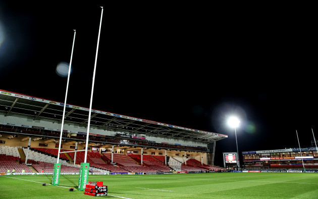 A view of Kingsholm Stadium ahead of the game