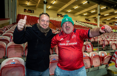 Munster fans Ciaran and Clive