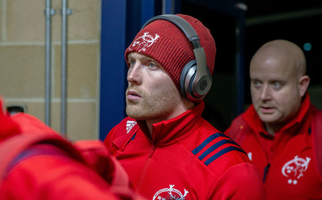 Keith Earls arrives