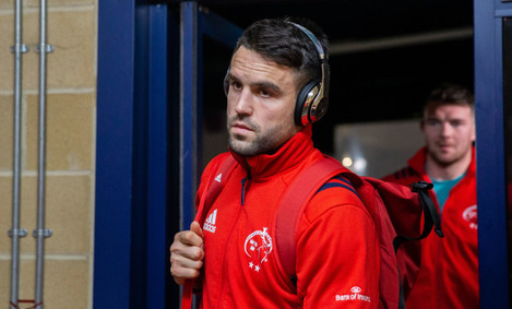 Conor Murray arrives