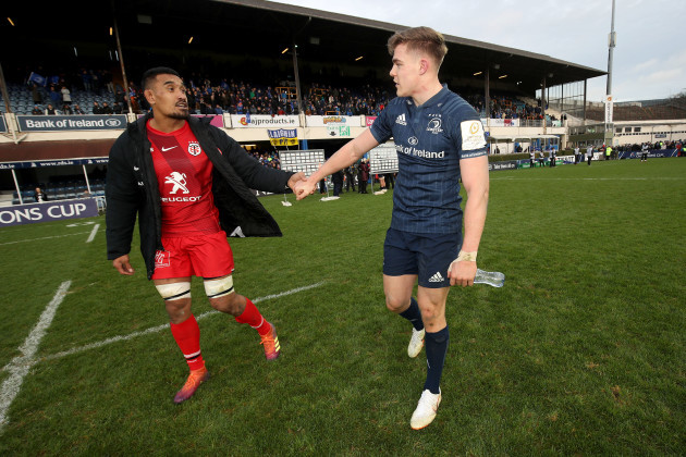 Jerome Kaino and Garry Ringrose after the game