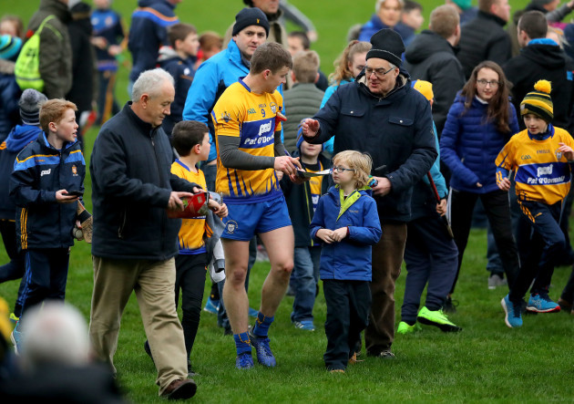 Tony Kelly with fans after the game