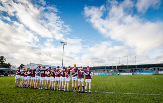 Galway during the national anthem