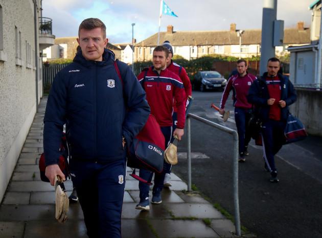Joe Canning arrives