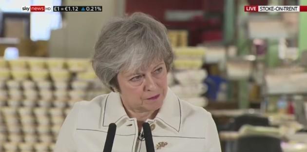 Theresa May factory