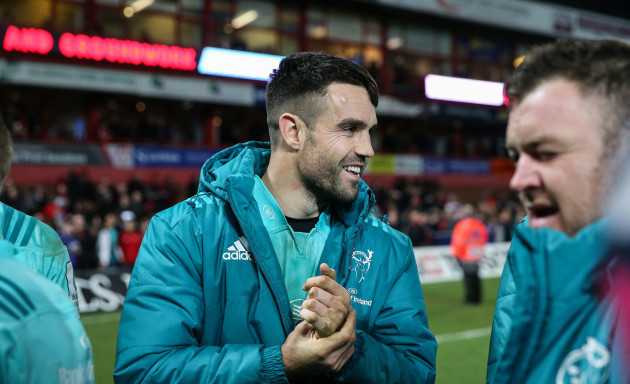Conor Murray celebrates after the game