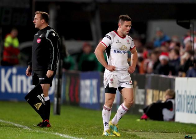 John Cooney goes off injured