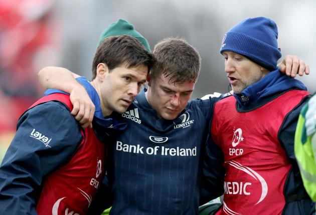 Luke McGrath goes off injured