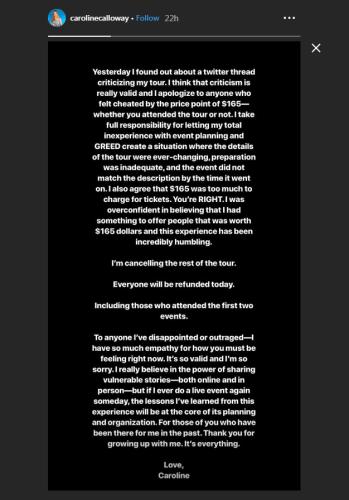Phone tour instagram story