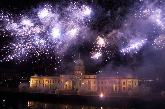 St. Patrick's Day Fireworks Dublin