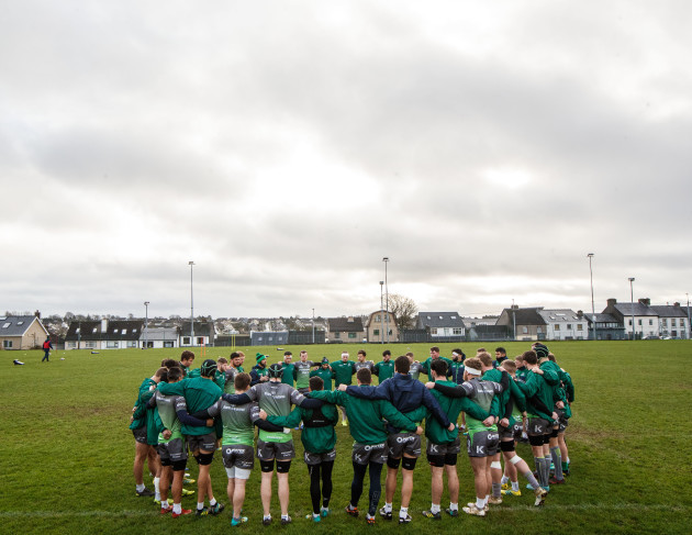 A view of Connacht training
