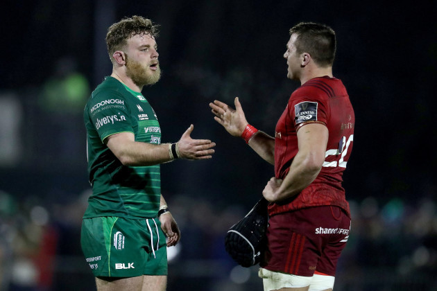 Finlay Bealham and CJ Stander