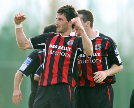 Killian Brennan celebrates after scoring a goal