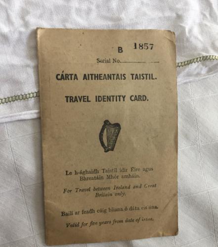 Travel Identity card