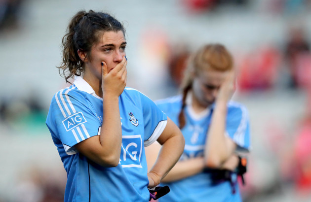 Niamh Collins dejected