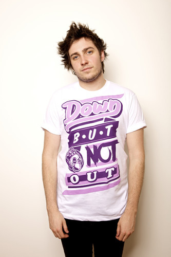 unisex-down-but-not-out-diner-violet-on-white-tee-141-p