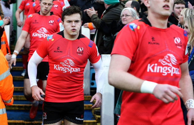 Jacob Stockdale makes his way out