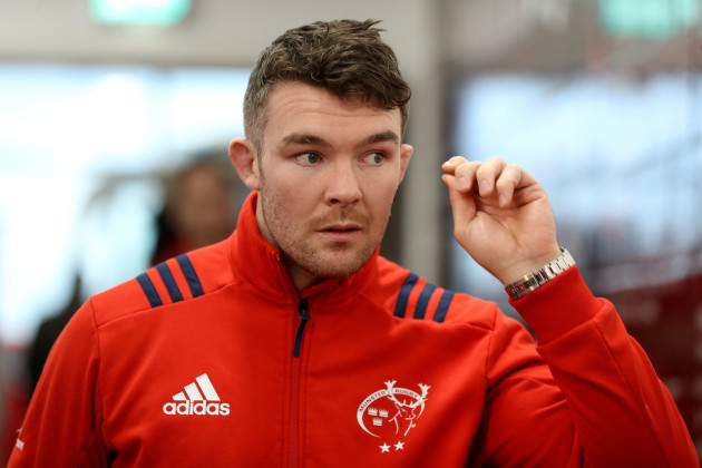 Peter O'Mahony arrives