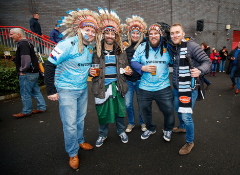 Exeter Chiefs fans before the game