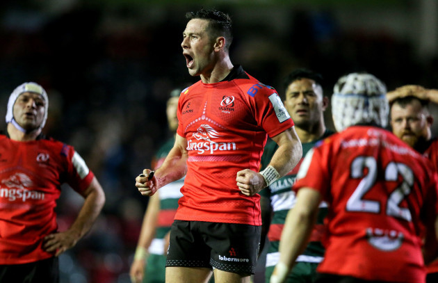 John Cooney celebrates at the final whistle
