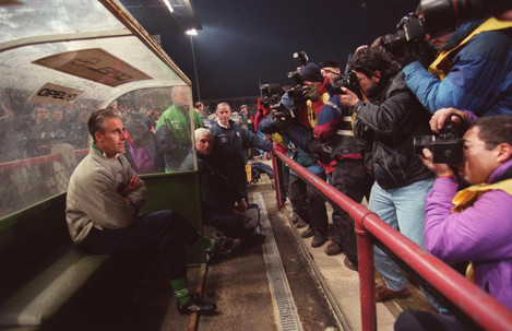 Mick McCarthy  Republic of Ireland soccer manager at his first match 1996