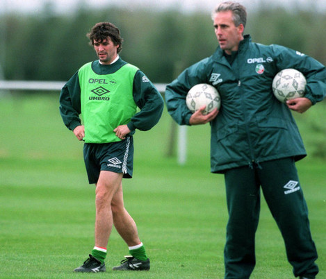 Roy Keane and Mick McCarthy 5/11/1996