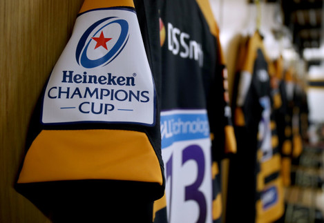 A view of the Wasps jersey ahead of the game