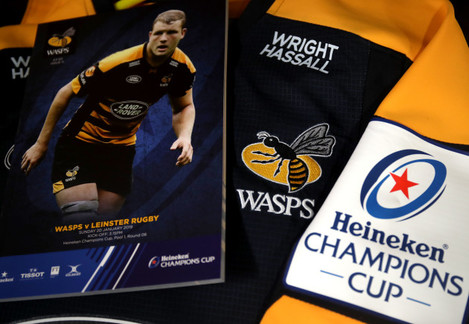 A view of the Wasps jersey and match programme ahead of the game