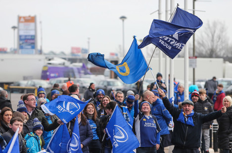 Leinster fans ahead of the game