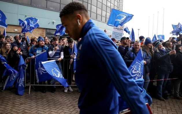 Adam Byrne arrives