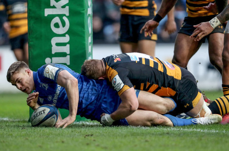 Garry Ringrose scores a try