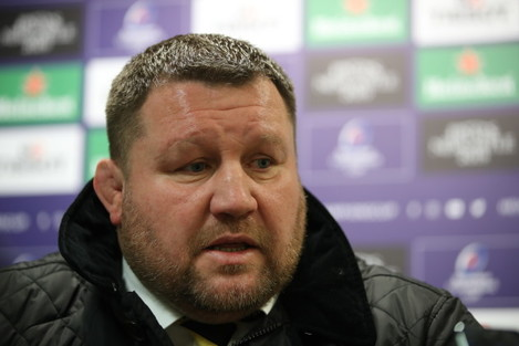 Dai Young at the post match press conference
