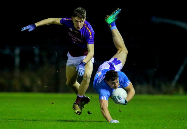 Brian Howard is tackled by Eoghan Lawless