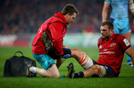 Tadhg Beirne down injured