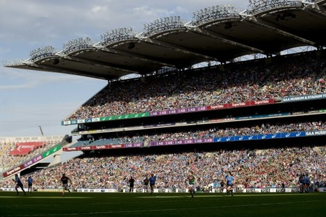 A general view of the large crowd in attendance at the Ladies All-Ireland Football Final