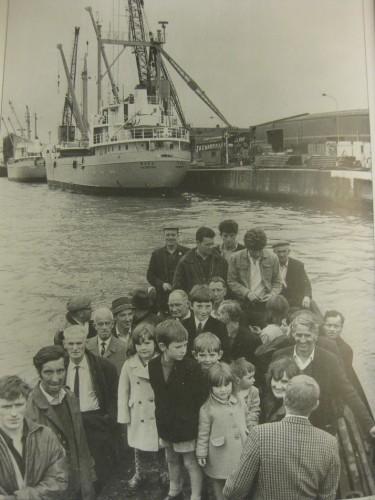 Passengers on board Liffey Ferry