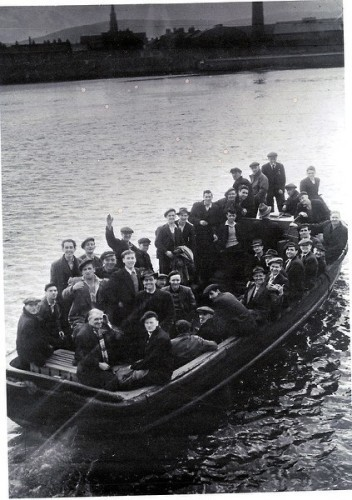 Dock workers on the Liffey Ferry