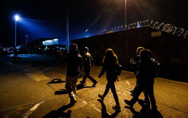 Fans arrive to Parnell Park