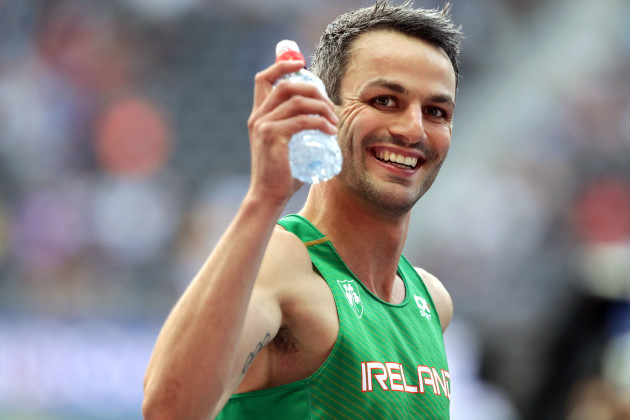Thomas Barr before the race