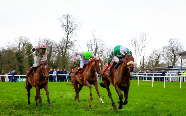 Davy Russell onboard Presenting Percy comes home to win