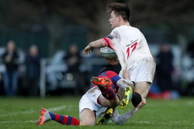 James Hickey tackled by Matt D'Arcy