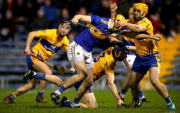 Seamus Callanan is fouled by Jason McCarthy to win a penalty