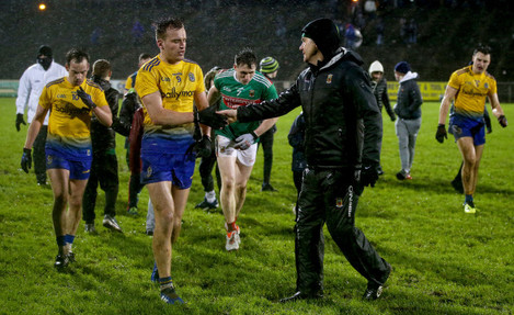 James Horan with Enda Smith at the final whistle