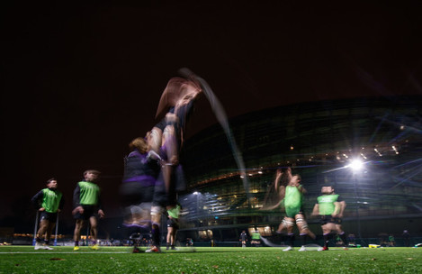 Terenure College during the warm up